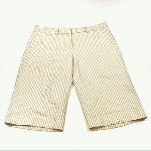 Theory Women's Seersucker Bermuda Shorts